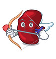 cupid spleen character cartoon style vector image vector image