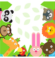Cute animal card vector image