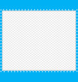cyan blue and white rectangle border animal vector image vector image