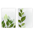 Design with Tea Leaves vector image