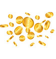 euro realistic gold coins explosion isolated on vector image
