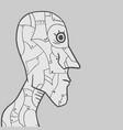 face robot vector image