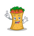 finger kebab wrap character cartoon vector image vector image
