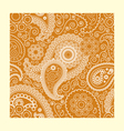 floral seamless paisley ham pattern vector image vector image
