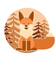 fox in forest vector image