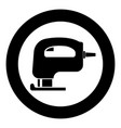 fretsaw electric keyhole saw icon black color vector image vector image