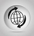 globe around vector image vector image