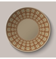 Greek dish with pattern vector image