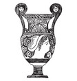 greek vase was made in apulia vintage engraving vector image vector image