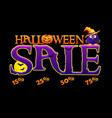 halloween autumn sale banner vector image vector image