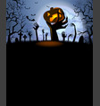 halloween background for a poster vector image vector image