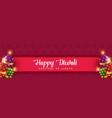 happy diwali crackers background design vector image