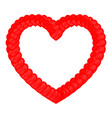 heart red color with small hearts vector image vector image