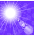 Hot Sun Background Blue Summer Pattern vector image vector image