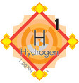 hydrogen form periodic table of elements v3 vector image