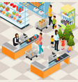 isometric holiday shopping concept vector image vector image