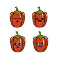 kawaii faces pepper vegetable icon vector image vector image