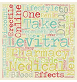 Levitra Drug text background wordcloud concept vector image vector image