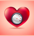 love meter scale love heart indicator vector image vector image