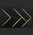 luxury tech background stack black vector image vector image