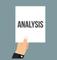 man showing paper analysis text vector image vector image