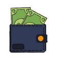 money wallet isolated vector image vector image