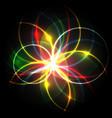 neon eps10 editable flower vector image