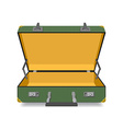 Opened Suitcase isolated vector image vector image
