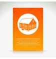 Orange house pattern vector image