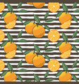 pattern of oranges isolated on white background vector image vector image