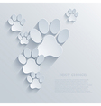 paw background Eps10 vector image vector image