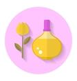 Perfume bottle flat icon vector image vector image