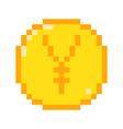 pixel yen icon vector image vector image