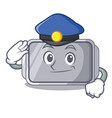police baking pan quality on isolated mascot vector image