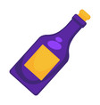 purple wine bottle vector image vector image
