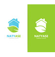 real estate and leaf logo combination vector image