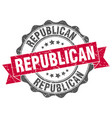 republican stamp sign seal vector image vector image