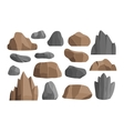 Rocks and stones icons vector image