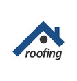 roofing logo concept design symbol graphic vector image vector image