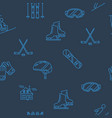 seamless pattern with winter sport icons vector image