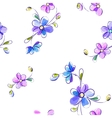 Seamless white pattern with flowers vector image vector image