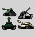 set bundle military tank vector image vector image