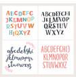 set hand drawn alphabets english alphabet vector image vector image