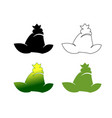 set of frog logotypes symbols vector image