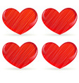 set of striped hearts 2 vector image vector image