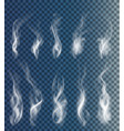 set transparent clouds and smoke vector image vector image