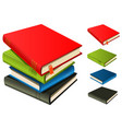 stack of books - set and separated vector image vector image