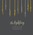 string lights vector image vector image
