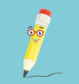 the character pen vector image vector image