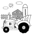 Tractor cartoon vector image vector image